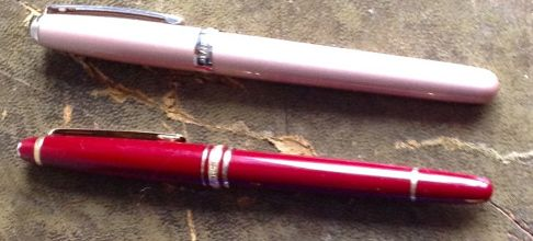 My two fountain pens - a Montblanc Meisterstück and a Sheaffer