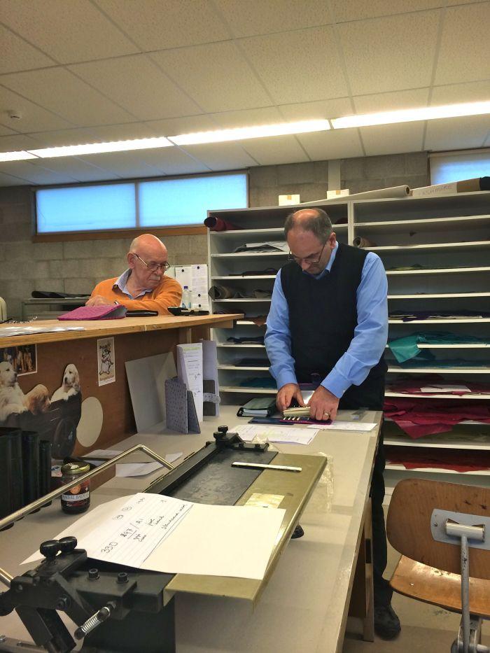 Mr Van Der Spek watching Steve preparing to make a video