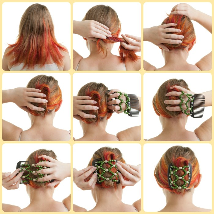 How to use and African Butterfly hair clip