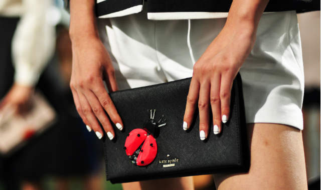 Garden party green at Kate Spade SS15 LADYBUG CLUTCH