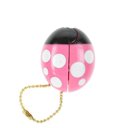 OH43601-PK~OHTO-Ladybird-Keychain-Scissors-Pink_P2