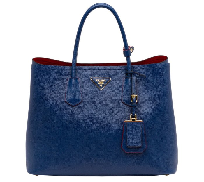 Prada-Saffiano-Cuir-Double-Bag-Blue