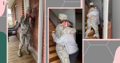 military officer surprises mother, video goes viral