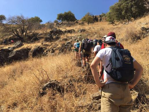 A tiyul (hike) in the Golan with kids on Workshop. This was a mifgash (meeting) between kids from seven countries.
