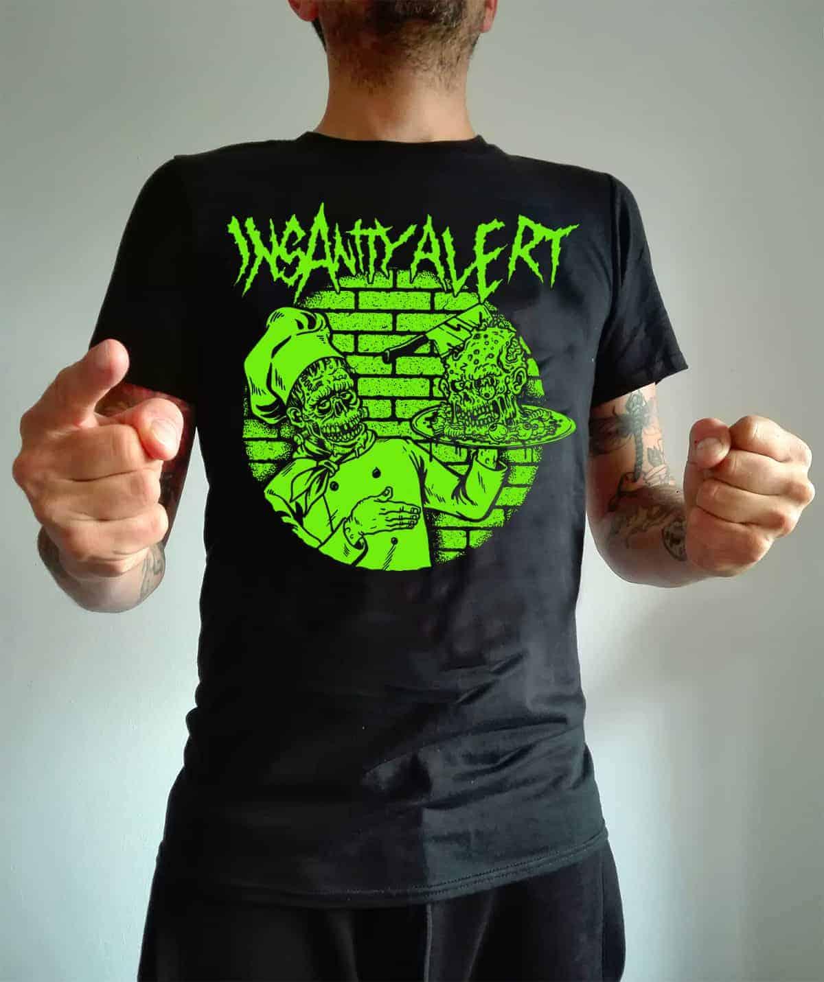 insanity alert zombi cook shirt