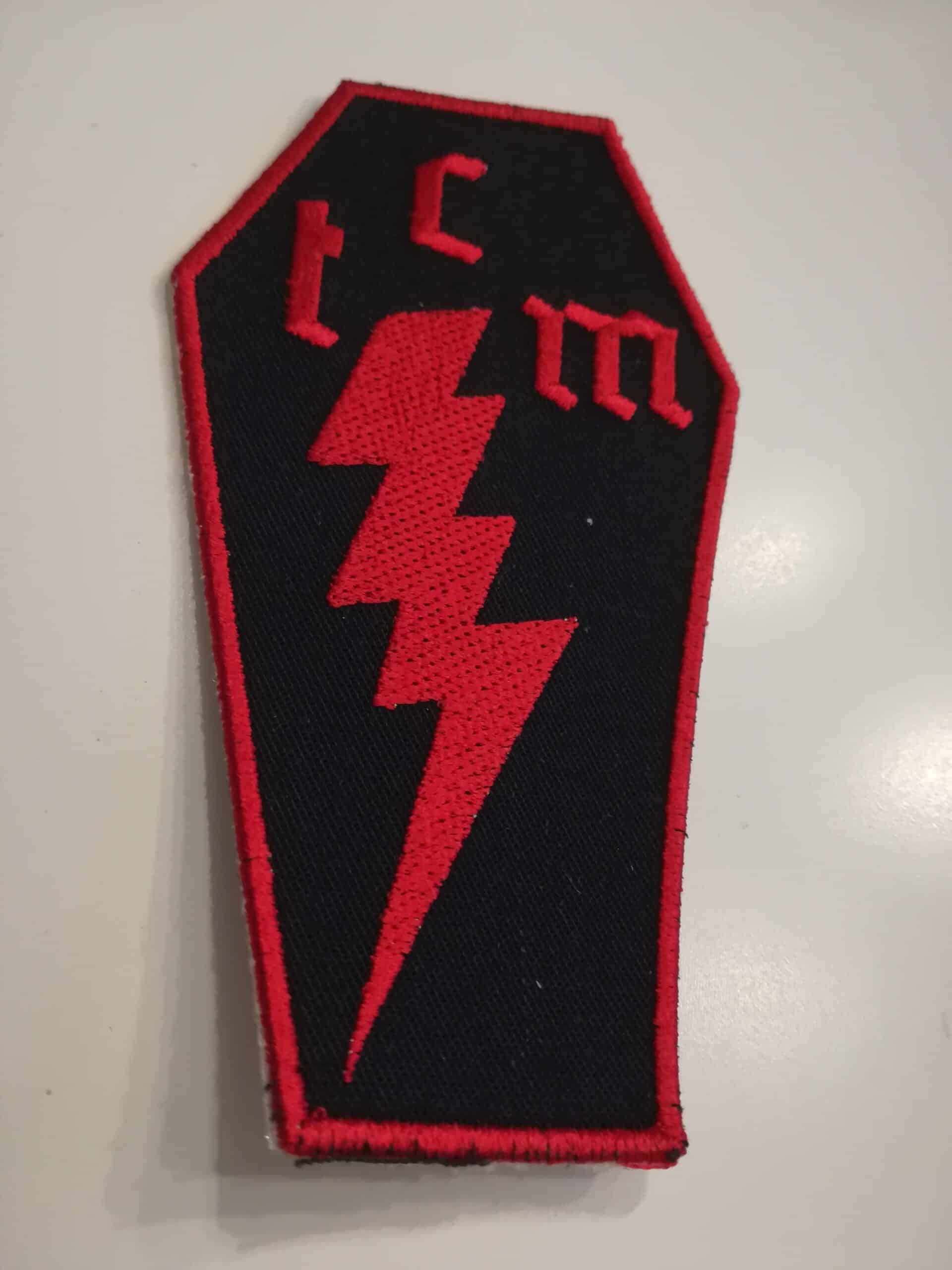 embroided Coffin Patch
