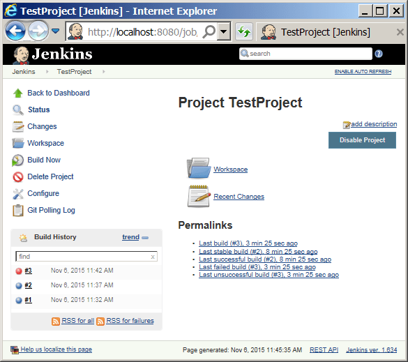 Installing and Running Jenkins in Windows