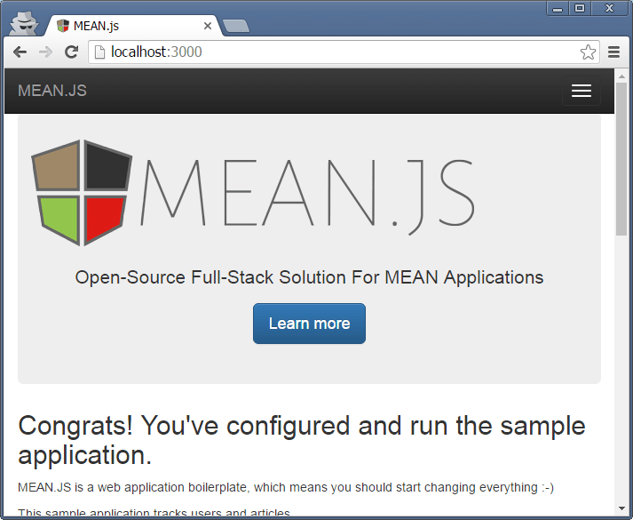 Getting Started with MEAN.JS