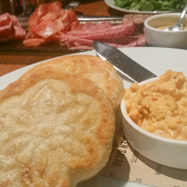 Pimento Cheese with Griddled Tigelles at The Partisan