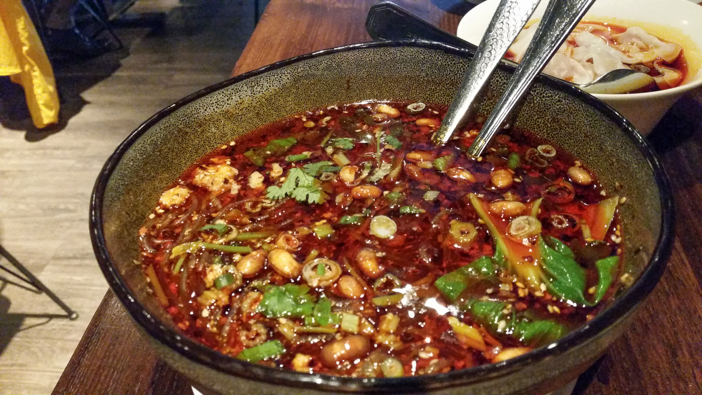 Sichuan Hot and Sour Glass Noodles at Dan Dan