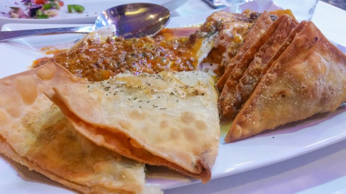 The Sampler at Afghan Grill