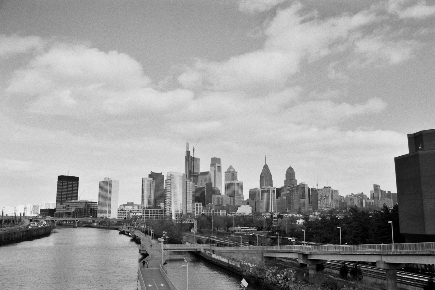 Philadelphia Skyline from South Street Bridge