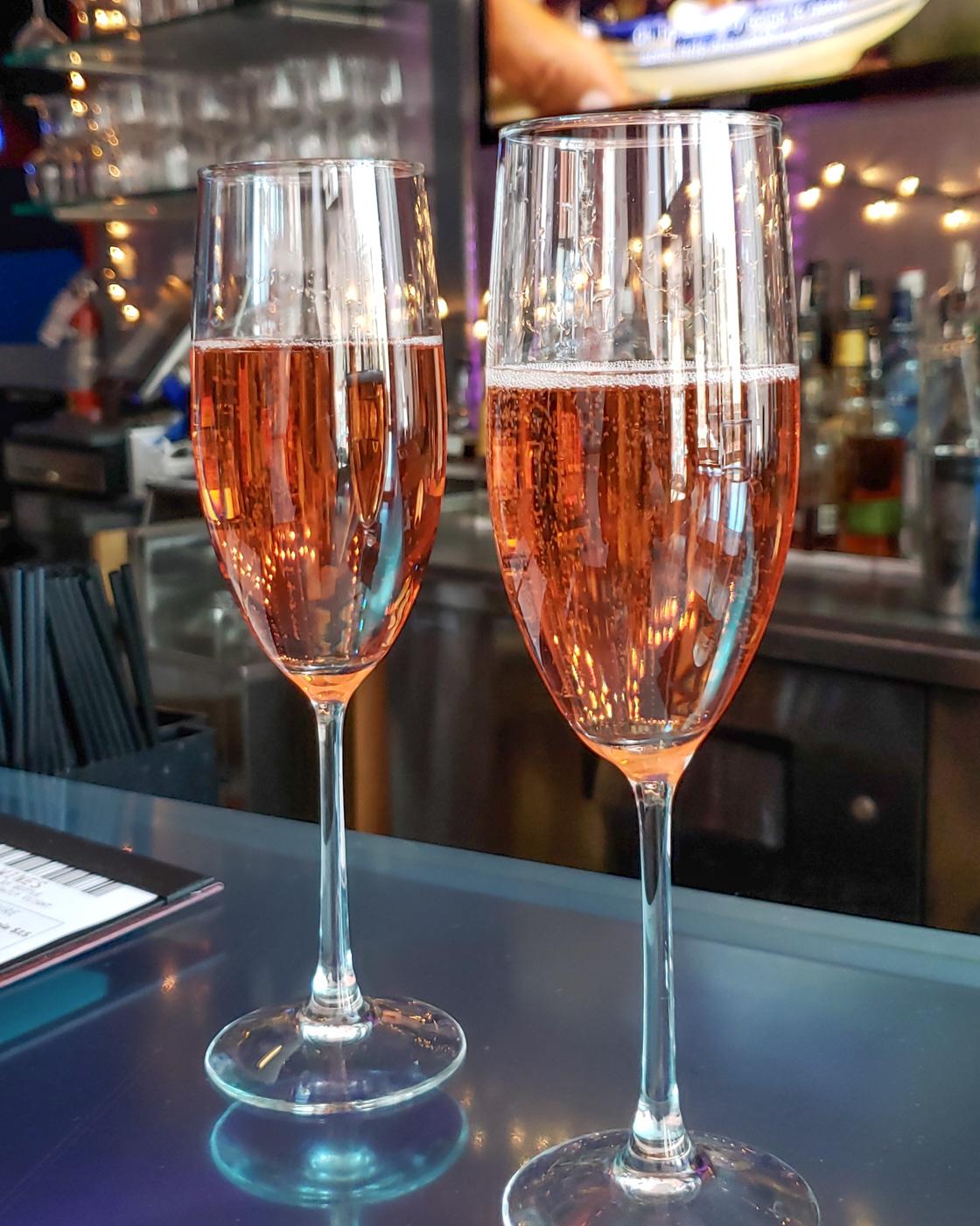 Sparkling Rose at Jet Wine Bar