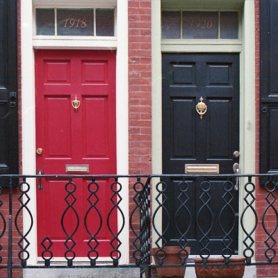 Red and Black Doors