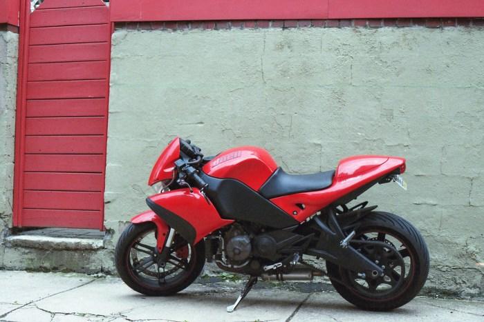 Red Door Red Motorcycle