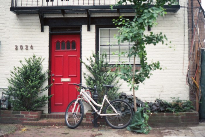 Red Door White Bike