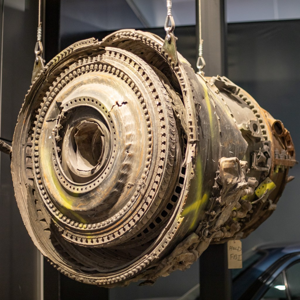 Airplane Part from Flight 175 Which Hit the WTC's South Tower