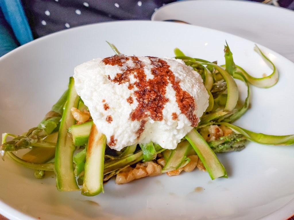 Ricotta and Asparagus at Basil Seasonal Dining