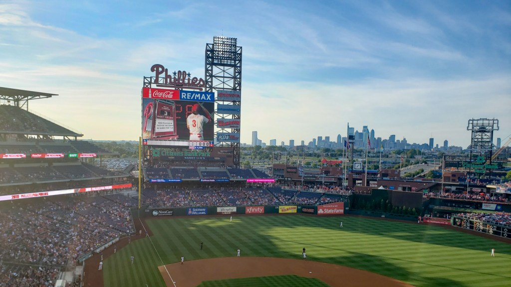 Citizens Bank Park and Philly Skyline