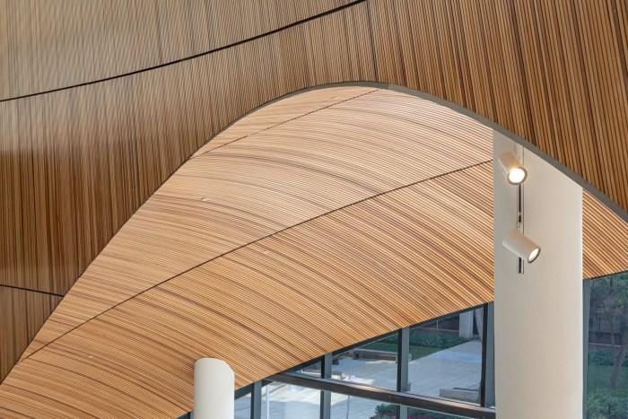 Wood Detail at Charles Library