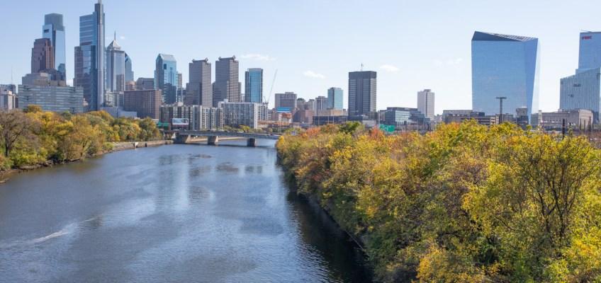 Philadelphia Skyline from the Spring Garden Bridge