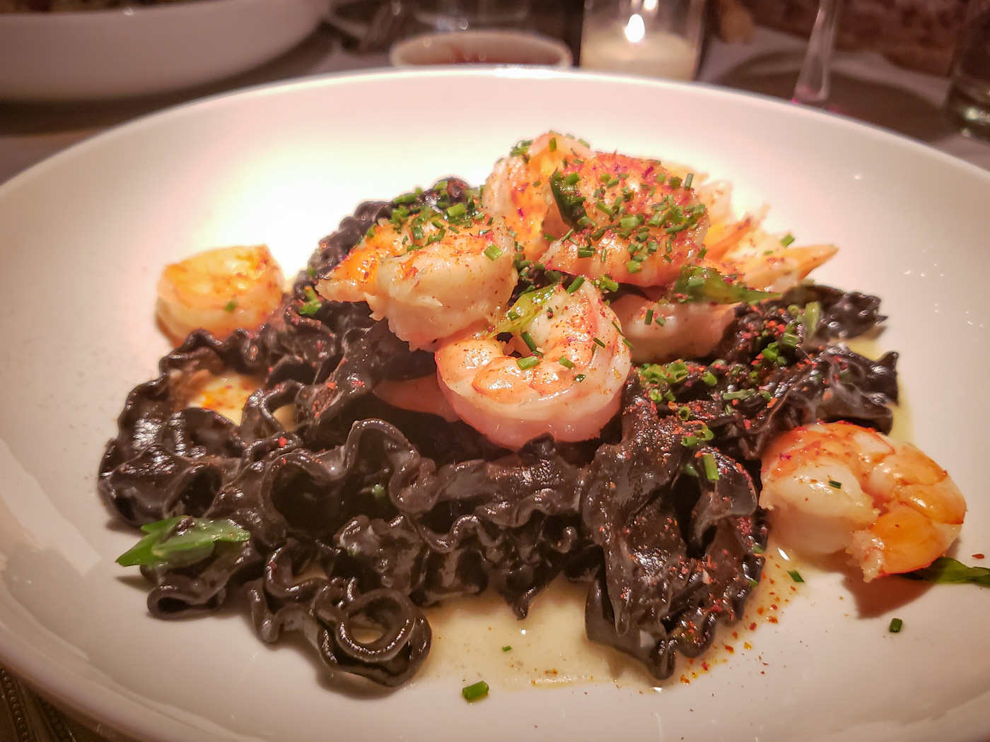 Squid Ink Mafalde at Bistro Romano