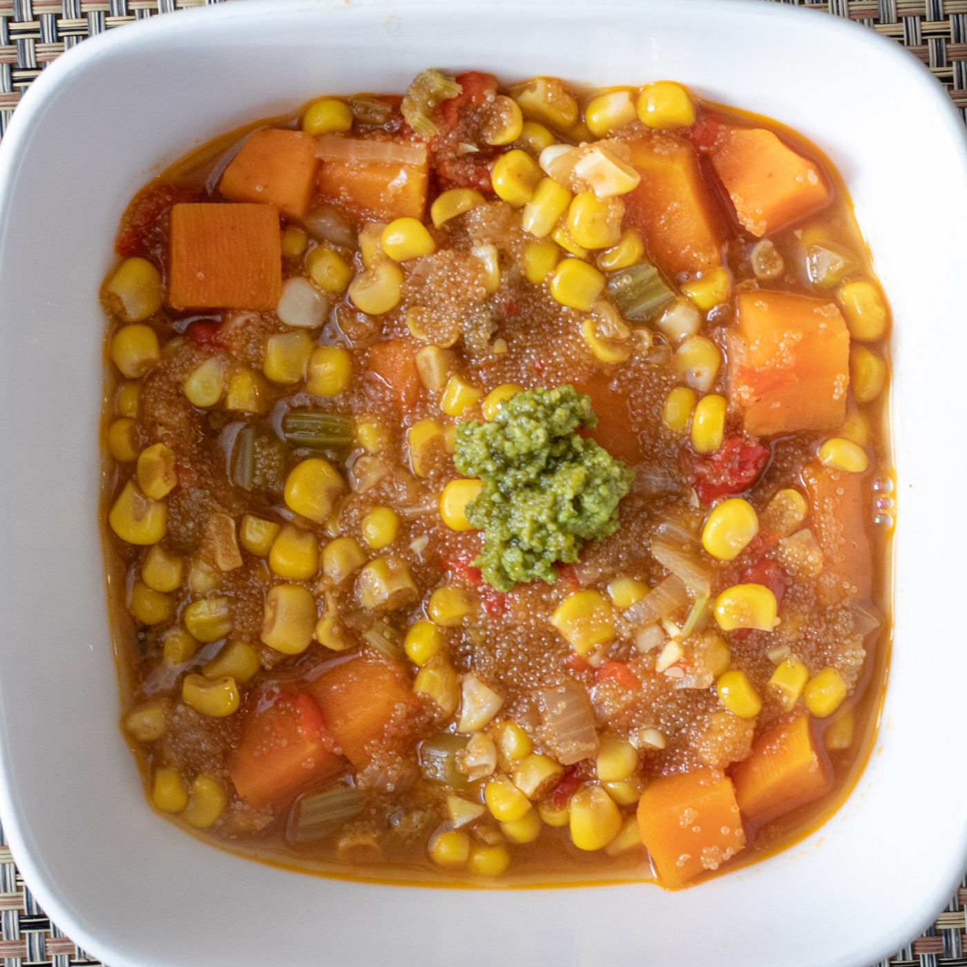 Smokey Amaranth Corn Chowder