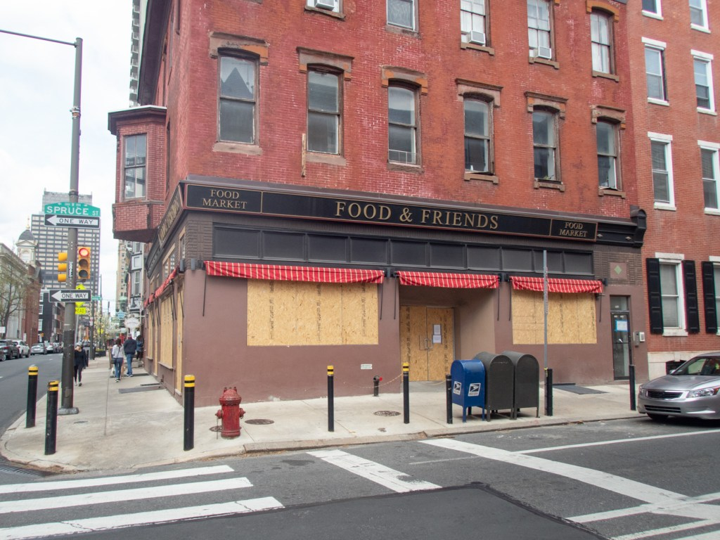 Food and Friends Boarded Up