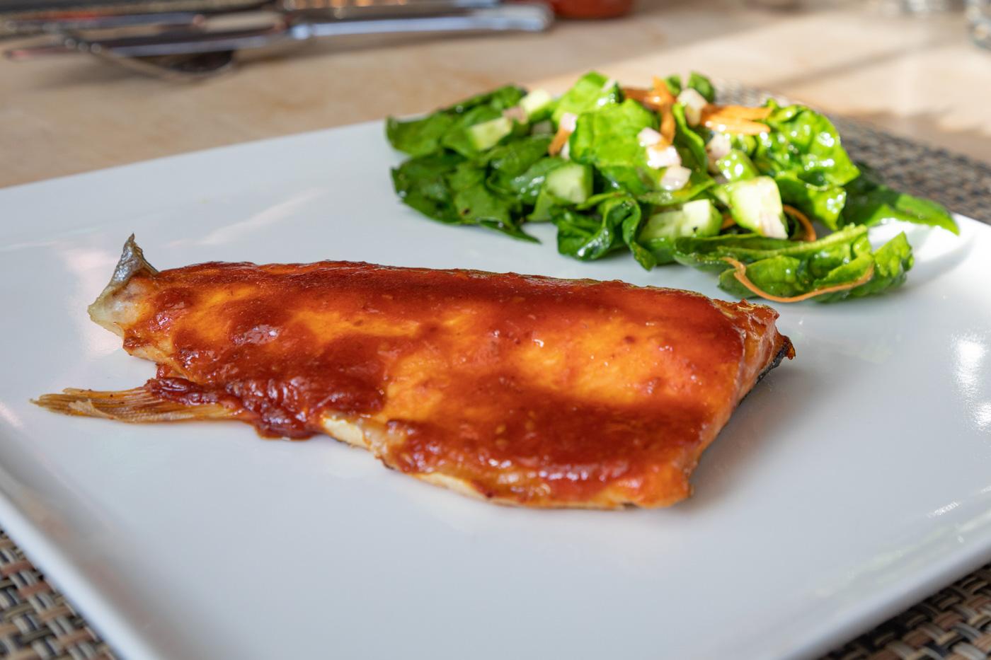 Salmon with Gochujang