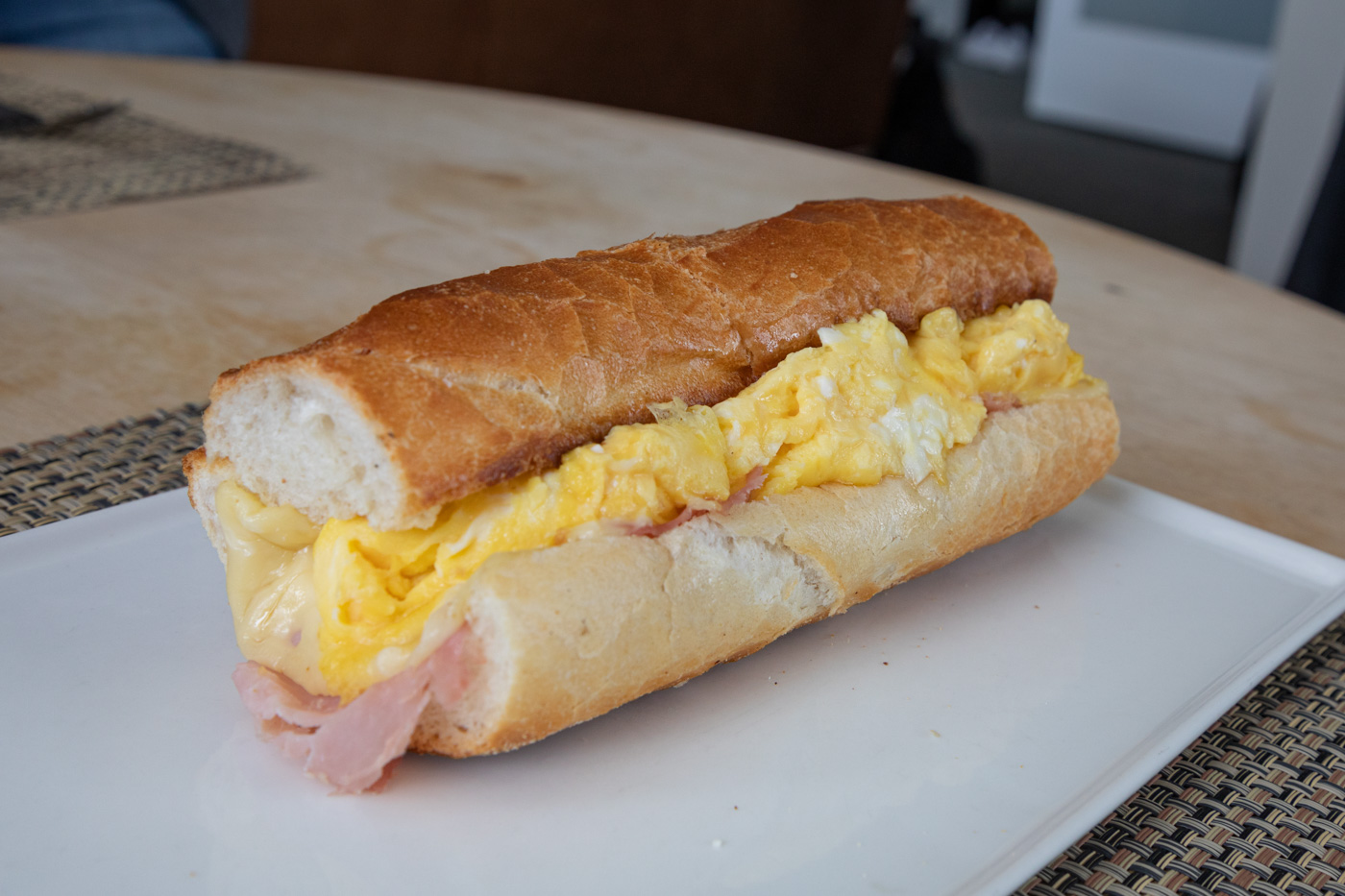 Eggs, Ham, and Swiss Sandwich from Cafe Lutecia