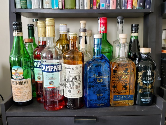 View of the Booze Shelf Week 6 of Social Isolation