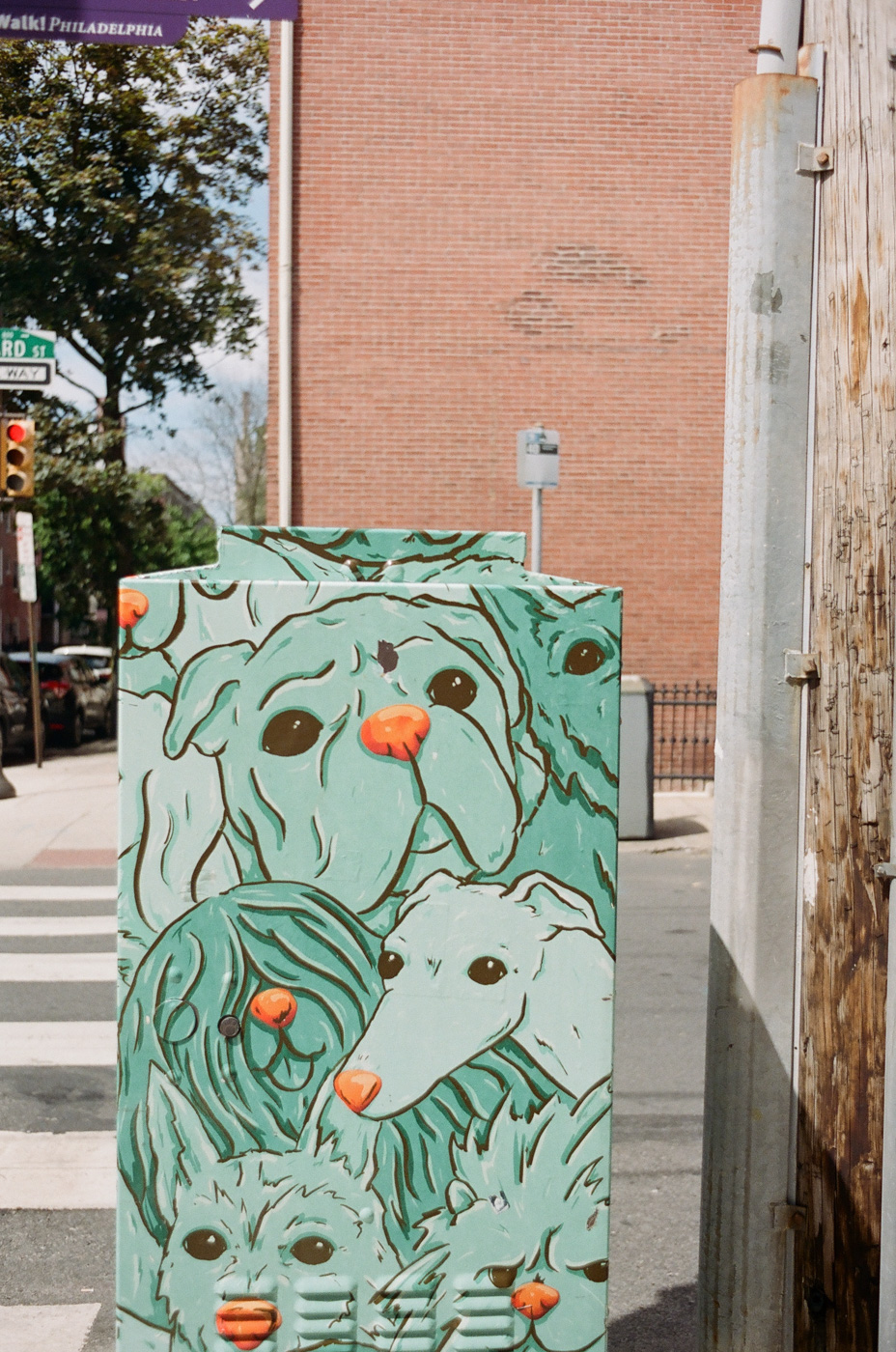 Utility Box with Dogs