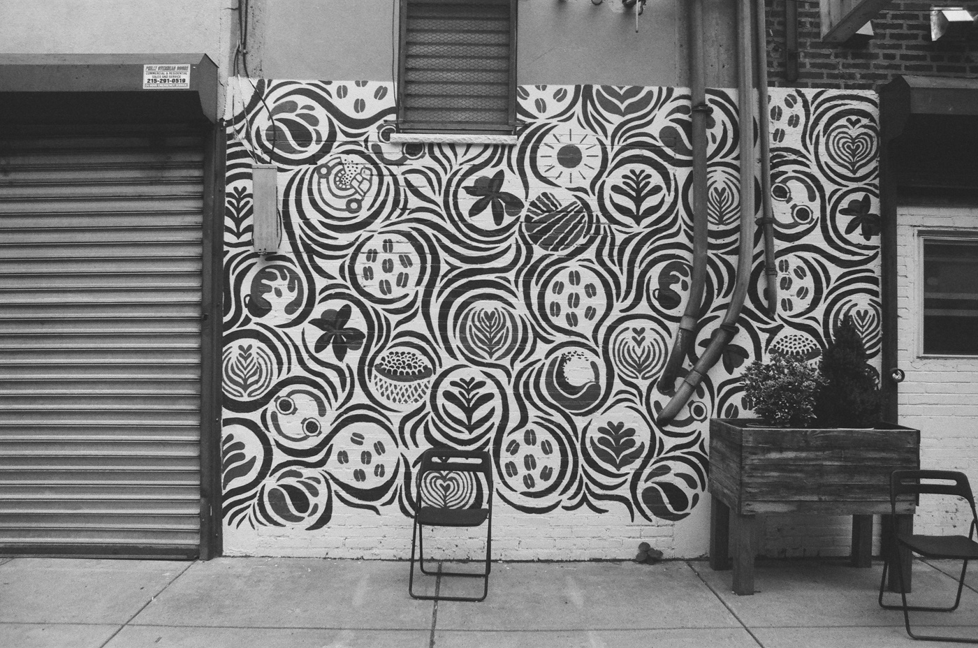 Mural and Chair