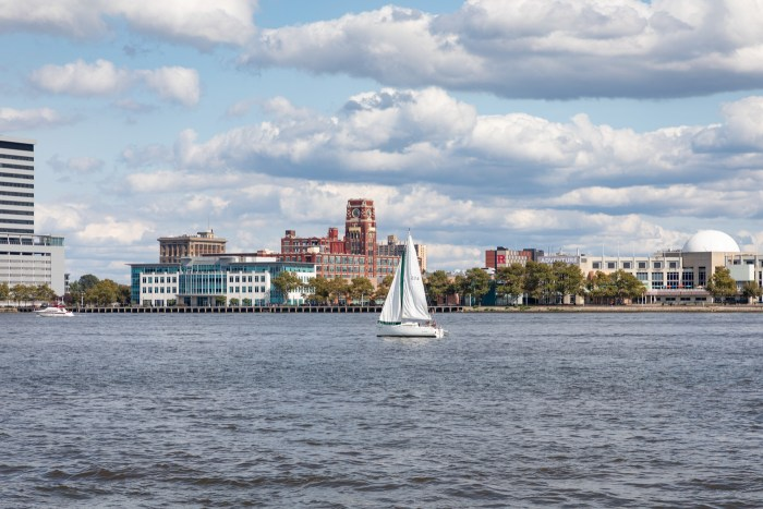 Sailboat on the Delaware River