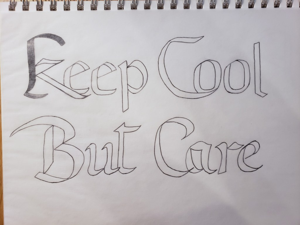 Keep Cool But Care tracing paper