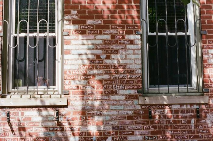 Black Lives Matter Tribute in Chalk