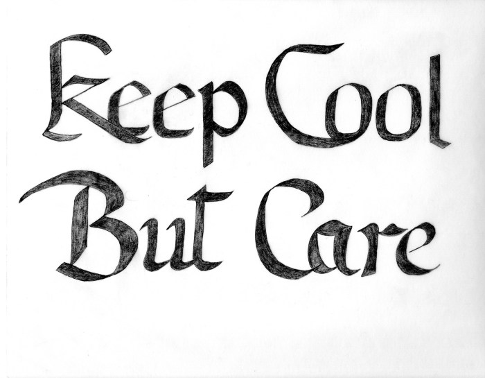Keep Cool But Care scan