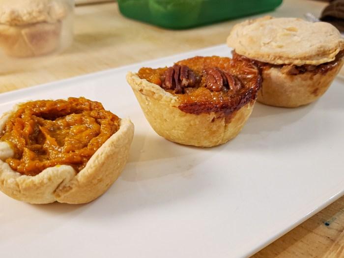 Three Mini-Pies for Thanksgiving