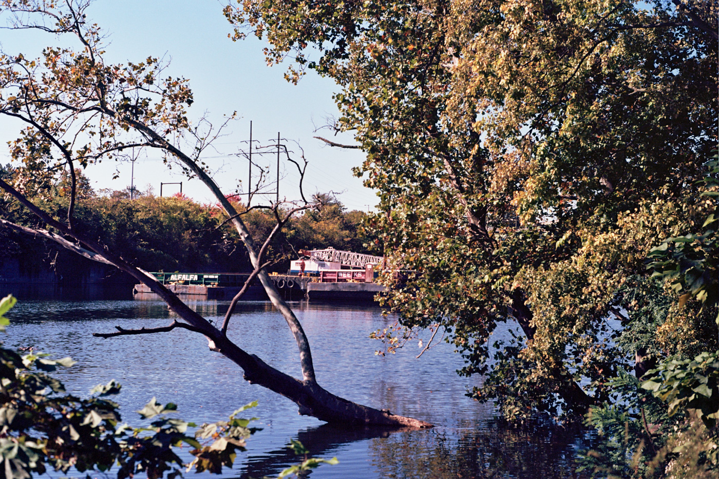 Barge on the Schuylkill River