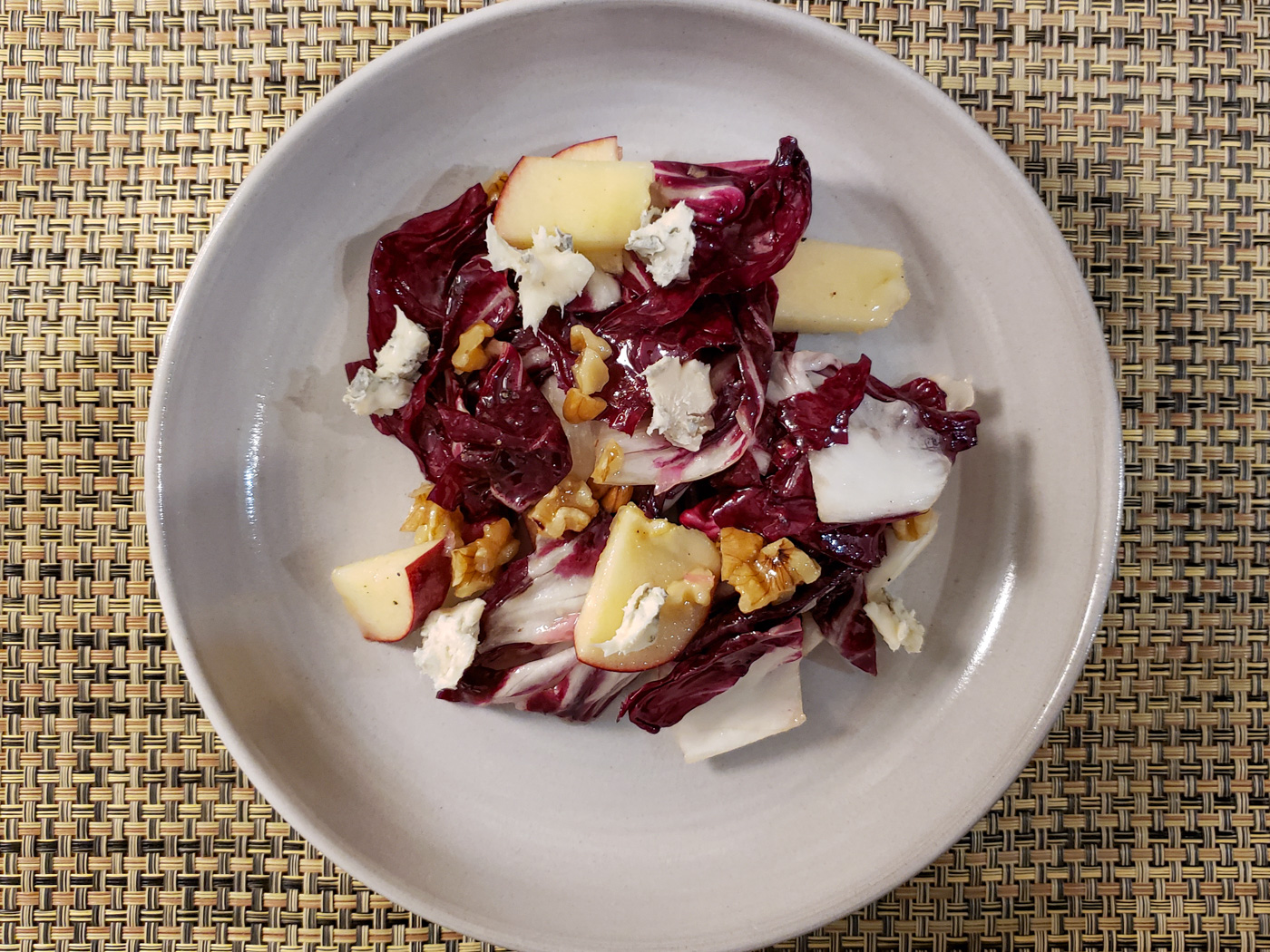 Radicchio Salad with Apples, Walnuts, and Gorgonzola