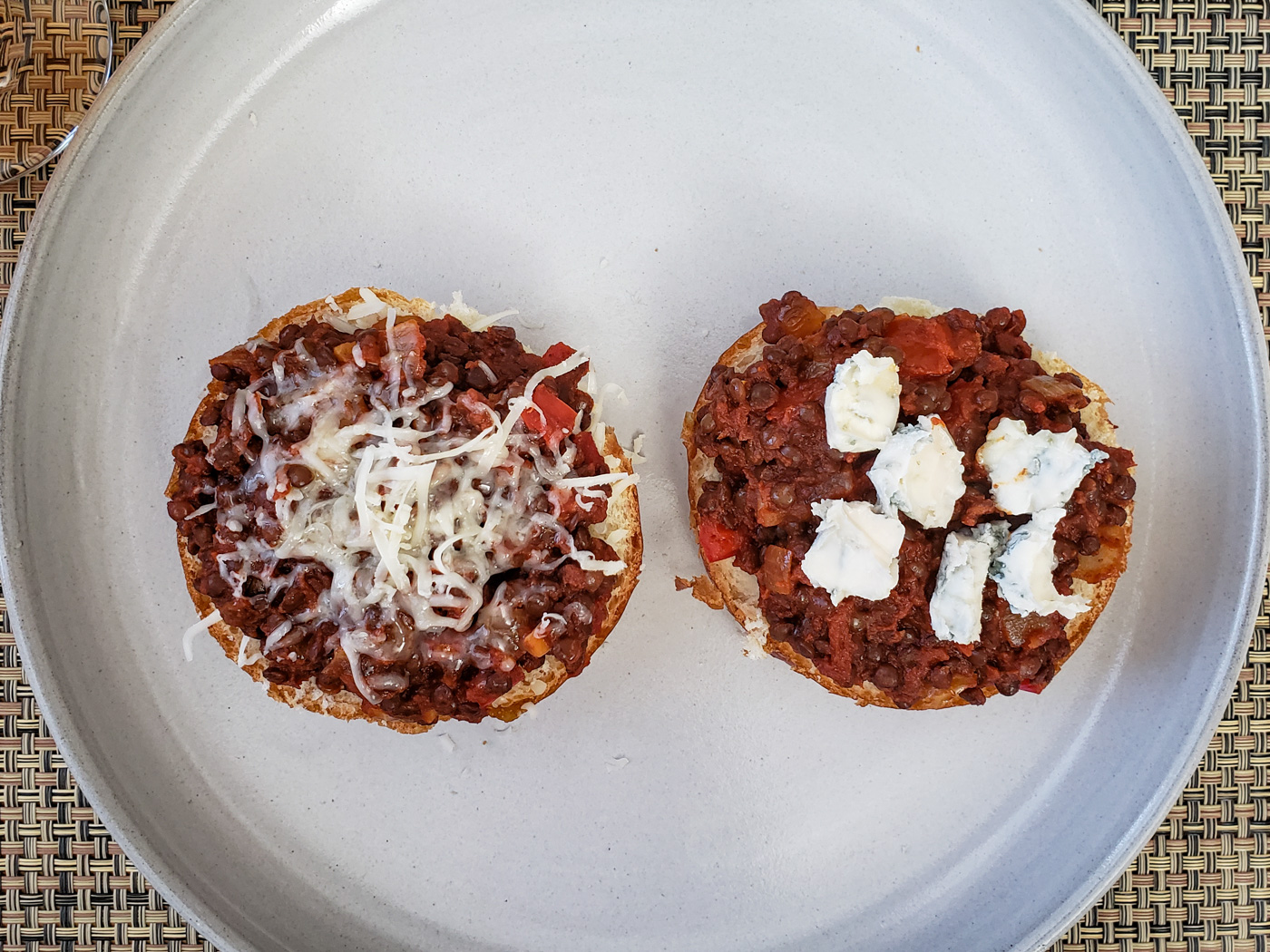 Open Face Lentil Sloppy Joes