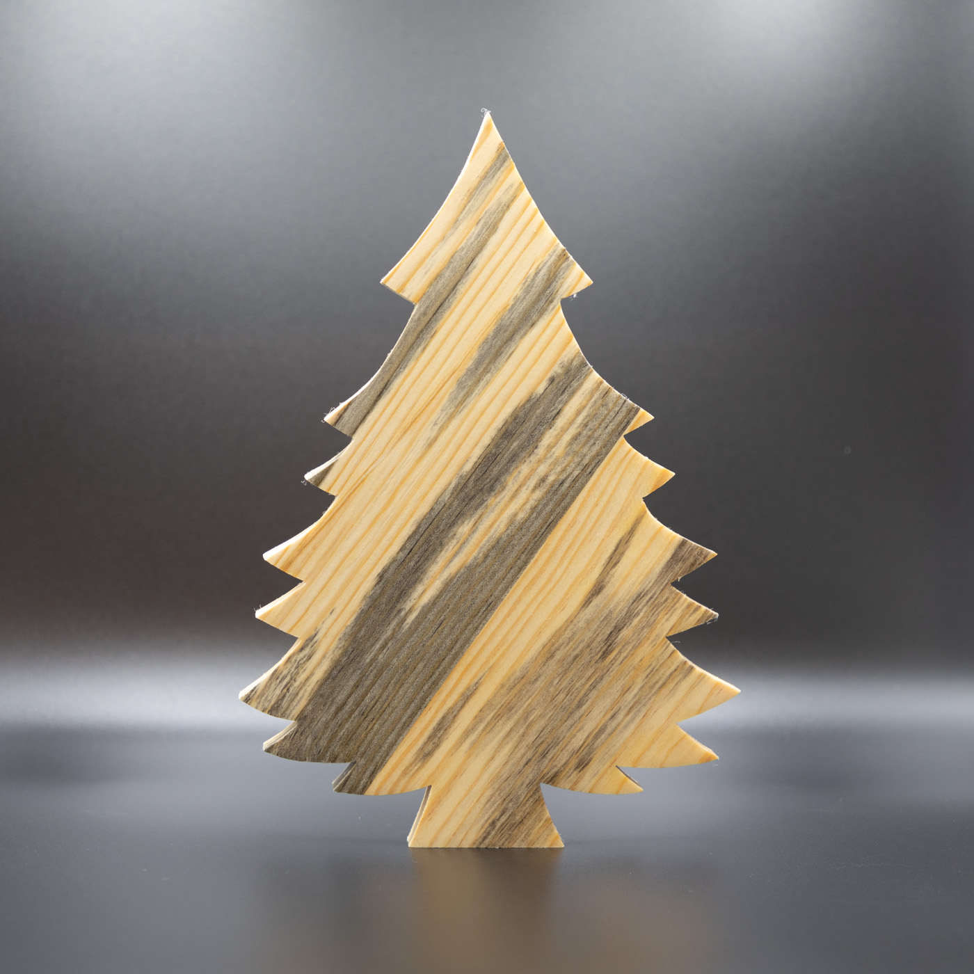 Light Box Wooden Christmas Tree