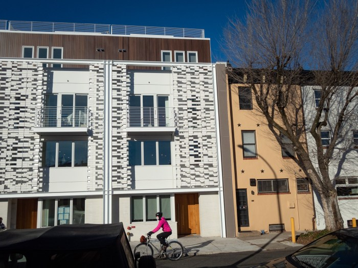 Ugly New Houses on Lombard Street