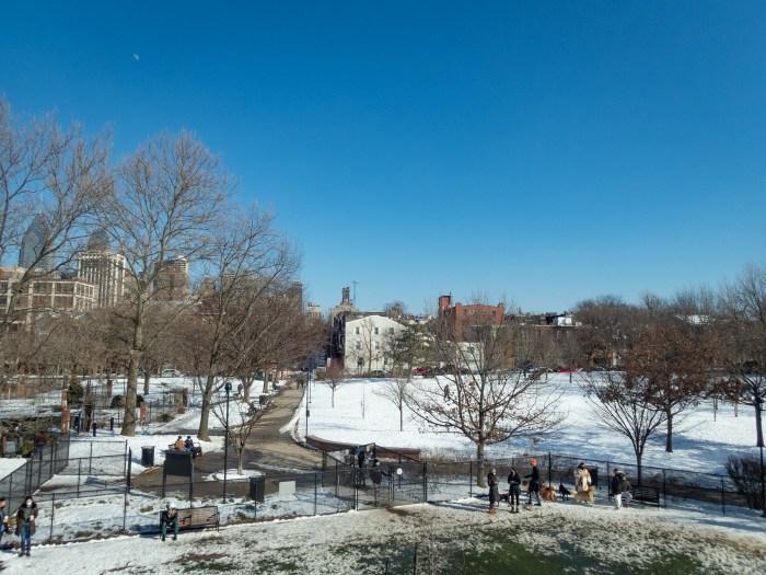 Snowy Schuylkill River Park