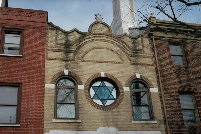 Stained Glass Star of David at Vilna Congregation