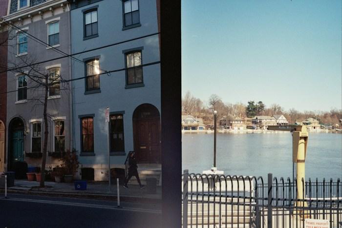 Blue House and Boathouse Row