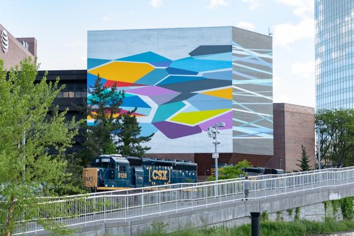 Convergence by Rebecca Rutstein and CSX Train