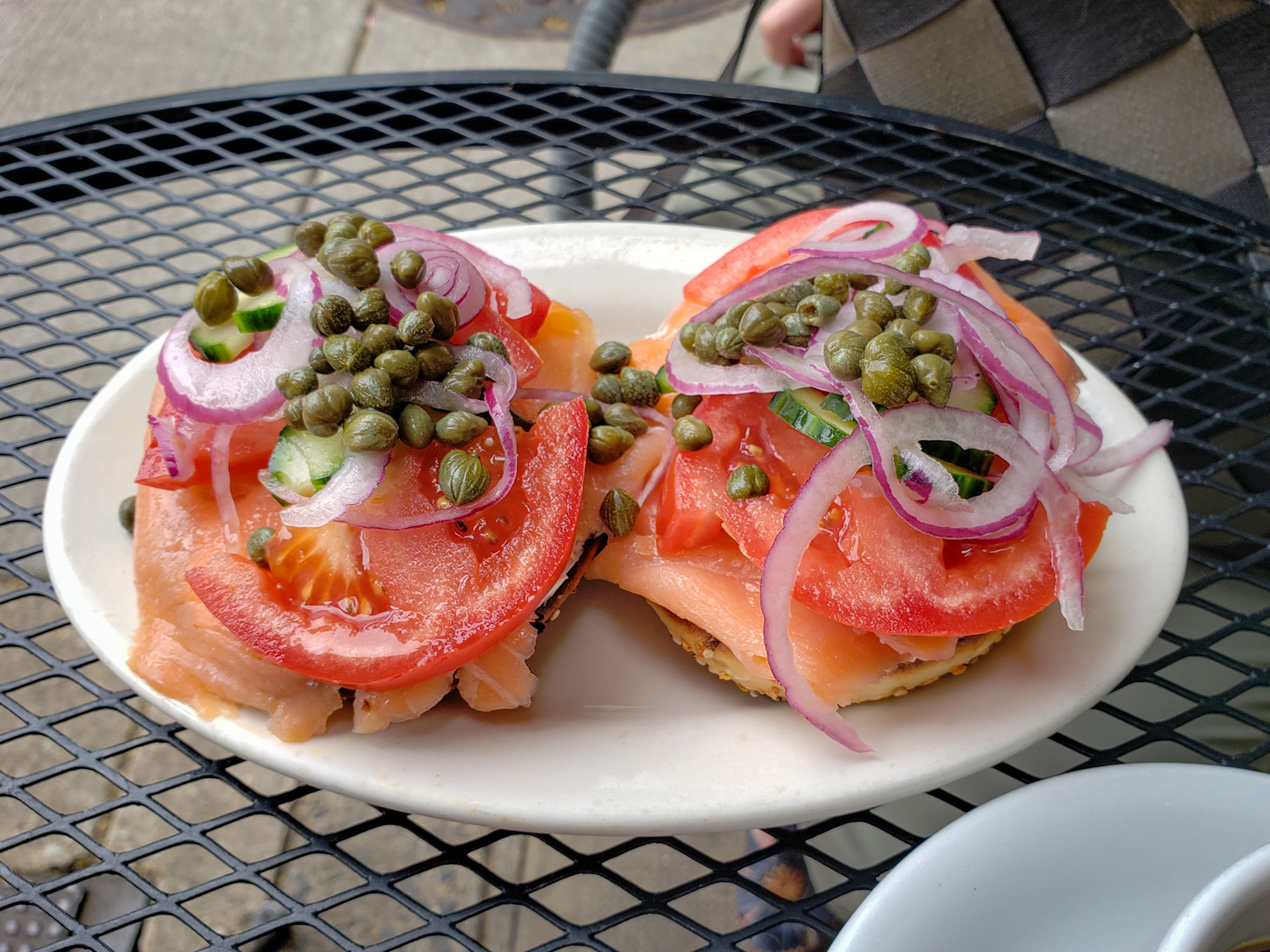 Lox and Cream Cheese at Cafe Lutecia
