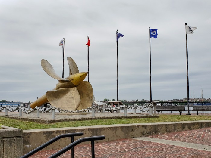 Gold Propeller at the Camden Waterfront