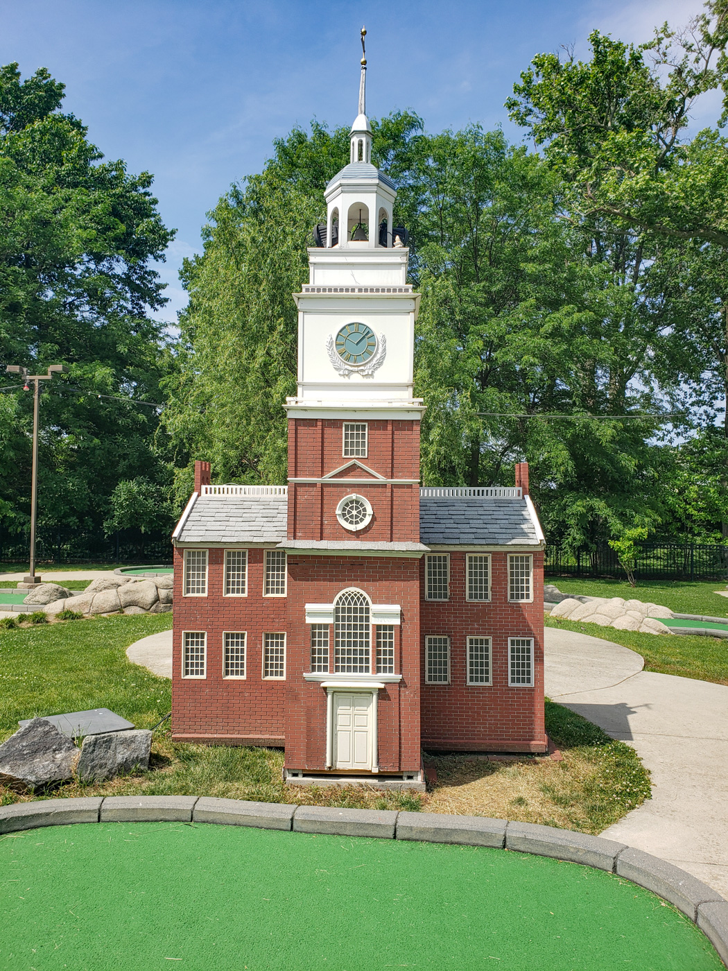 Independence Hall at Franklin Square Mini-Golf